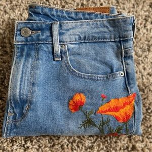Rare Embroidered Levi's Jeans ❤️🧡🤍💚 (NWOT)